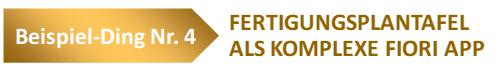 Fertigungsplantafel als komplexe Fiori App
