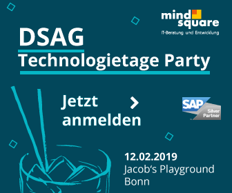 DSAG Technologietage Party 2019