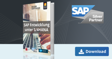 Unser E-Book zum Thema SAP Entwicklung unter SAP S/4HANA