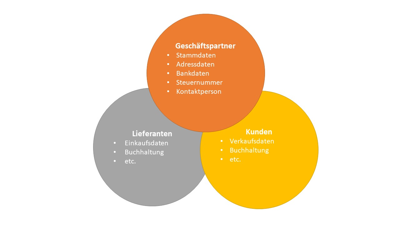 Schematische Darstellung des Geschäftspartners