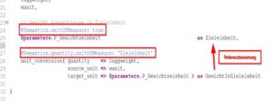 Abbildung 1: Stellen Sie mit Annotationen Einheiten-Referenzen her.