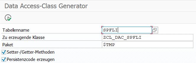 Data Access-Class Generator Selektionsmaske