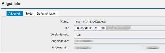 BRFplus ID für Kommunikation mit angelegter Funktion