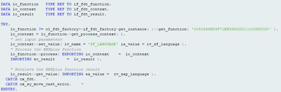 BRFplus Ansprache einer ID im Coding