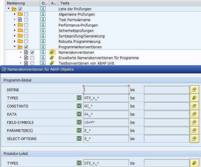 ATC: Prüfvariante mit Check auf Namenskonvention