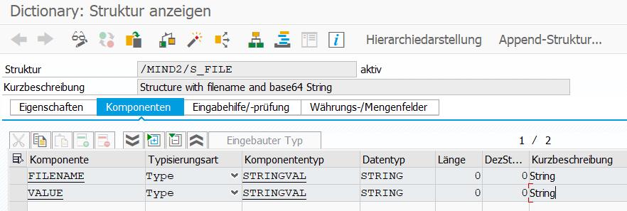 DDIC Struktur für OData Rückgabetyp