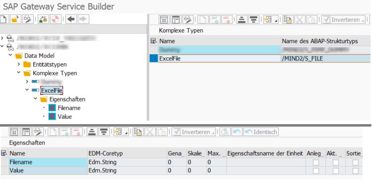 SEGW Komplexer Typ für Excel-Datei