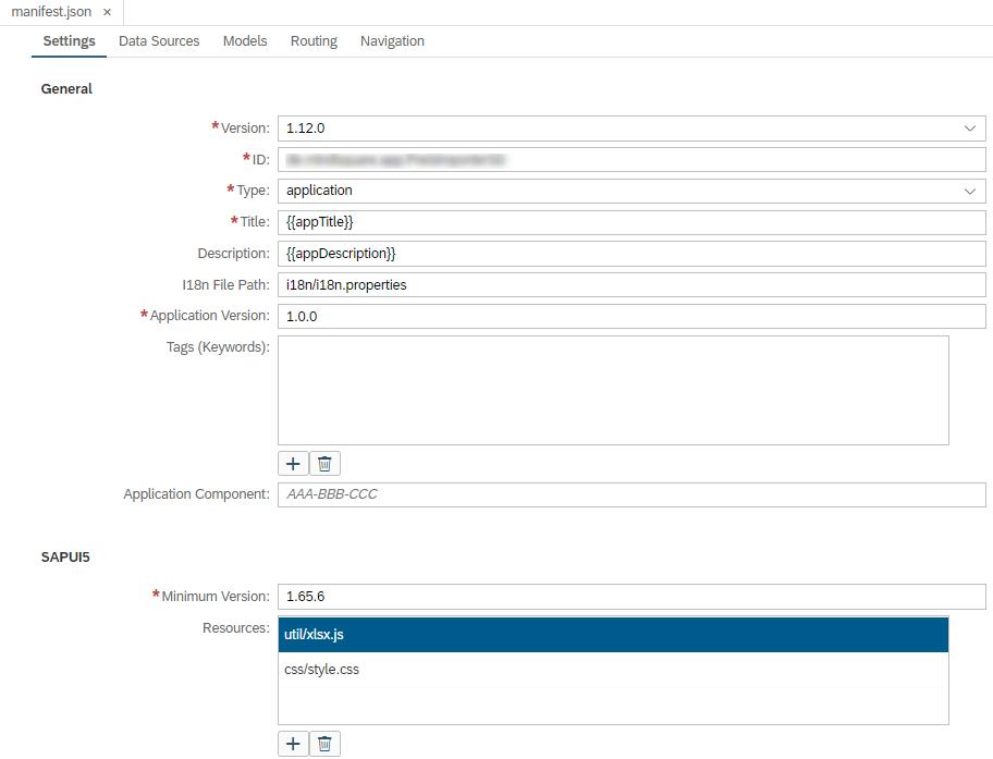 Angeben der Library-Datei als JS-Ressource in der manifest.json