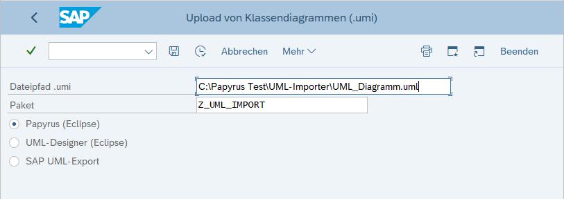 ... das Sie mit unserem Tool in SAP importieren und automatisch in die entsprechenden Klassen und Interfaces überführen können.