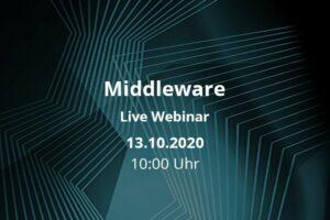 Middleware Live-Webinar am 13.10.